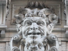 Satyr Gargoyles - The Ansonia Apartment Building 3834 (Brechtbug) Tags: satyr gargoyles the ansonia apartment building now condo upper west side new york city 2109 broadway between 73rd 74th streets built 1899 opened 1904 beaux arts architectural style mansard roof architect paul e m duboy featured 1992 film single white female bridget fonda jennifer jason leigh home pogo cartoonist disney animator walt kelly mobster arnold rothstein athletes jack dempsey babe ruth 8222016 nyc 2016