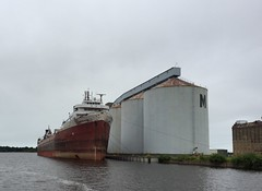 Freighter American Victory in long term layup at Superior Wisconsin.  August 11 2016. (Dan Haneckow) Tags: 2016 frieghters americanvictory superior