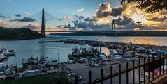 UMT_7716-2 (UmitCukurel) Tags: bridge turkey istanbul bosphorus sony nikon lightroom d750 sonyalpha bogazici kopru night poyrazkoy battleship gemi sky sunset dusk gunbatimi cloud