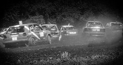 in touch (O.I.S.) Tags: autocross offroad off road bw sw racing race racer cars action 50d 70200 dirt track
