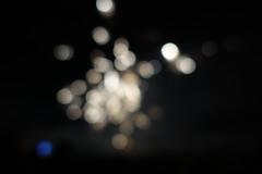 Blue White (markusbeyer1) Tags: bokeh colorfullights color sonyrx100iii blobs night dark light spots france