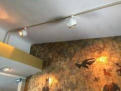 Foil Wallpaper and Curved Ceiling (Gadsden1500) Tags: hollywoodregency orientalism midcentury glamor indianfoilwallpaper demolition mcmansion waste