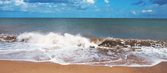 Waves (jleyshons) Tags: waves beach ocean vacation holiday travel travelling sky blue cloud clouds landscape