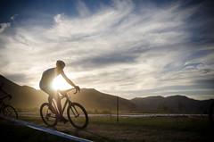 Rider of the Sun (Ryan_Hasselbach) Tags: america usa bike cycling cyclocross golden mountainbike race ride sunset goldenhour colorado
