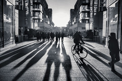 Streets of Milan (Stefano Montagner - The life around me) Tags: city cityscape em5markii em5mkii milan milano olympus olympusomd stefanomontagner thelifearoundme street urban shadows streetsofmilan blackandwhite bn bw