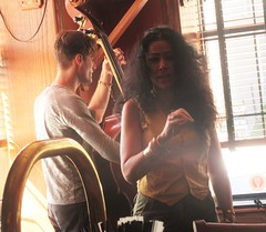 Laura Rain at the Northland Pub (cohodas208c) Tags: jonletts jazz blues northlandpub landmarkhotel jazzbrunch bass doublebass laurarain marquette