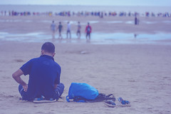 DSC_5613 (Marufmrb) Tags: coxs bazar coxsbazar beach bangladesh chittagong lonely boy nikon d7100