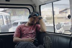 Jireh Sleeping (kylefrederiksen) Tags: red sleep native pinoy car cebu city cool light traffic