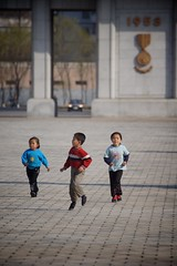 Pyongyang Children (Joseph A Ferris III) Tags: children running run northkorea pyongyang dprk juche