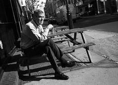 Back in London (Riverman___) Tags: street leica portrait white black london sc 35mm pub f14 voigtlander ttl pint m6 marylebone landlord skopar bwfp