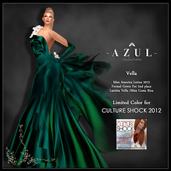 -AZUL- Vella /CULTURE SHOCK limited color (mami_jewell) Tags: azul dress formal event donation chic gown limited cultureshock charuty vanityhair modavia virtualimpressions