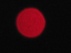 The June Strawberry Moon of 2012 (fyrrylikka) Tags: light red cottagecountry 2012 topofthemicrowavetower