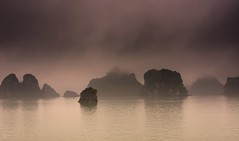 Halong Mist (DPGold Photos) Tags: seascape water fog bay asia cliffs vietnam limestone portfolio halong halongbay