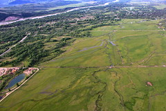 From the Air (andrewpug) Tags: sky hot green beautiful high scenery view air balloon meadow pasture hotairballoon