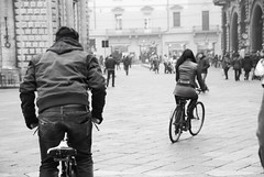 Catch me (sara zollino) Tags: street city people urban square moving movement candid streetphotography bikes bicycles bologna biciclette