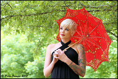 Kelly - Red Umbrella (Peter Camyre) Tags: park lighting june loving river photo state connecticut adler salmon saturday ct 9 lindsay location peter colchester connection 2012 conn camyre