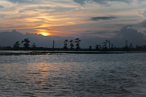 sunset over Lake Maurepas