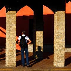 L'attesa (meghimeg) Tags: shadow sun man waiting ombra uomo sole attesa 2011 cairomontenotte