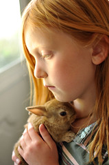 second Girl and her dwarf bunny (houstonryan) Tags: pet cute rabbit bunny art 35mm print lens photography utah photo model nikon shoot photographer photoshoot meetup modeling ryan conejo models houston photograph f18 provo d300s houstonryan maybegettyjune2012