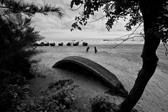 Kuakata- the epitome of human resilience (Catch the dream) Tags: bw monochrome children boats blackwhite fishing horizon seashore bangladesh bnw kuakata playfulchildren