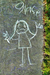 Girls get sad when boys carnt spel (Steve Taylor (Photography)) Tags: girls newzealand christchurch writing chalk hands sad drawing pavement path crying canterbury wrong sidewalk nz spelling southisland northnewbrighton ministryofawesome