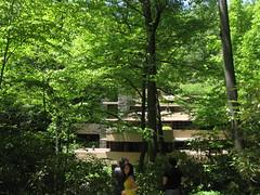 IMG_1623 (gundust) Tags: usa glass stone architecture creek forest concrete waterfall pennsylvania steel may franklloydwright organic fallingwater 2012 bearrun millrun