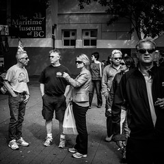 The 7 spies (Joris_Louwes) Tags: people canada sunglasses looking britishcolumbia group victoria spies spying