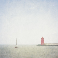 Summer on Dublin Bay (MaggyMorrissey) Tags: red dublin lighthouse wall bay pier boat south sail