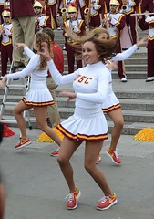 Img284896nx2 (veryamateurish) Tags: woman london girl cheerleaders band trafalgarsquare usc universityofsoutherncalifornia miniskirt