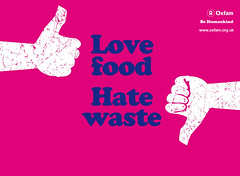 Love food. Hate waste. (allispossible.org.uk) Tags: england food color colour illustration graphicdesign festivals icon portfolio banners campaign vector oxfam