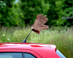 0006336 (Shakies Buddy) Tags: hello red canada car wave nb glove antenna ©allrightsreserved nbphoto youmakemesmile