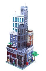 The Corner of 5th and Main (lgorlando) Tags: city town lego stack modular custom 2012 greengrocer cafecorner