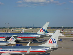 American (army.arch) Tags: chicago skyline plane illinois airport ohare il american planes americanairlines terminal3 aa
