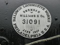 Baldwin Locomotive detail  (1907) (silwittmann) Tags: brazil detail history sc brasil iron machine baldwin 1907 caador locomotice oldsteamlocomotive museudocontestado