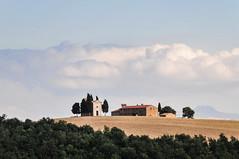 SS146, Pienza (MikePScott) Tags: camera trees sky italy clouds lens italia hills tuscany cypress siena pienza toscana topography pinuspinea nikon18200mmf3556 nikond300 ss146 featureslandmarks dichianciano