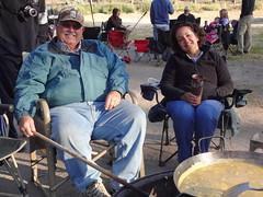 harley and yana (maureenld) Tags: camping friends fun 40th bash may db harley annual yana pinnacles 2012 pinnaclesnationalmonument bethereorbesquare desertbash btobs
