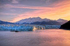 Sunrise & Hubbard Glacier (Lus Henrique Boucault) Tags: travel blue sunset sea vacation usa sunlight snow cold color ice gelo nature water colors field azul alaska sunrise landscape gold golden bay us agua colorful ship purple unitedstates natureza scenic ak canyon glacier explore neve viagem vista campo northamerica iceberg sight icy royalcaribbean scape majestic insidepassage cor frio hdr seward kenai beatiful southrim ferias navio yakutat roxo estadosunidos naturephotography blueice hubbardglacier enviroment geleira tidewater photomatix americadonorte tonemapped majestoso oceanbay nikonafsdxnikkor1685mmf3556gedvr nikond5100 luishenriqueboucault alaskacruizeiro cruzeironoalaska