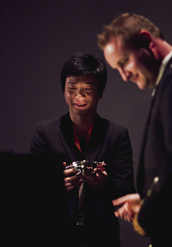 Here, Then director Mao Mao receives his award for International Feature Film at the 2012 EIFF Awards ceremony at the Filmhouse