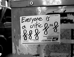 Everyone is a critic (-Curly-) Tags: streetart art graffiti sticker stickerart curly