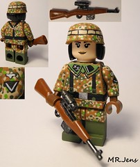 500th SS Sniper WWII LEGO (MR. Jens) Tags: world two germany war wwii ss german ww2 second custom 500th g43 brickarms fallschirmjger