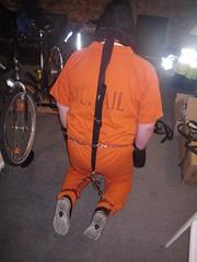 Kneeling prisoner (bondagehaj) Tags: mask bondage hood prisoner inmate humane restraint segufix