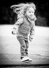 little michief (smac.pic) Tags: new winter girl hair fun jump toddler warm child play mommy sugar jacket mischief