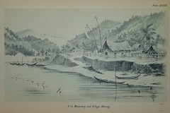 A Lu Mekong Monastery - Australian Science Journal 1895 (AndyBrii) Tags: old john cambodia university antique maps sydney australia books science brisbane vietnam queensland shirley rare mekong aaas australasian association indochina engravings 1895 advancement lithographs rotuma