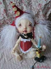 Colombyne version petit clown (heliantas) Tags: doll body handmade bjd kane humpty dumpty blushing faceup nefer