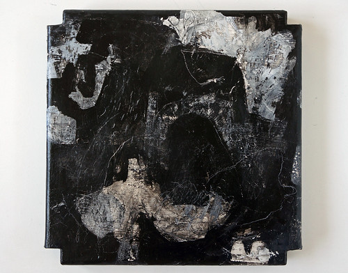 Hitosashiyubi (2012) Acrylic and charcoal on canvas 360x360x40mm