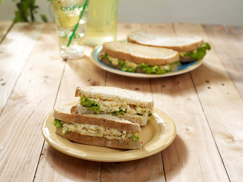 Creamy Classic Egg Salad on Whole Wheat Granny Loaf