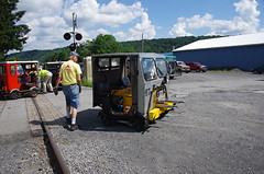 IMGP6434 (geepstir) Tags: car reading pennsylvania rail pa shamokin speeder sunbury narcoa