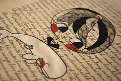 Herman Mellville Tribute (Anita Mejia) Tags: boy white art illustration pen ink acrylic drawing traditional whale mobydick chocolatita chacalote hermanmellville anitamejia
