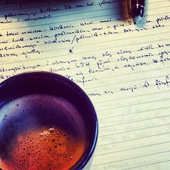 Ostatnie poprawki i mog lecie na kongres (jasniepaniczyk) Tags: square squareformat fountainpen coffe montblanc amaro kawa iphoneography instagramapp uploaded:by=instagram