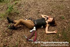 Tomb Raider Shoot with Annick  07 (berserker244) Tags: yggdrasilphotography60072016 guerrillaphotography yggdrasilphotography evandijk annick annickscosplay laracroft tombraider riseofthetombraider grebbeberg rhenen